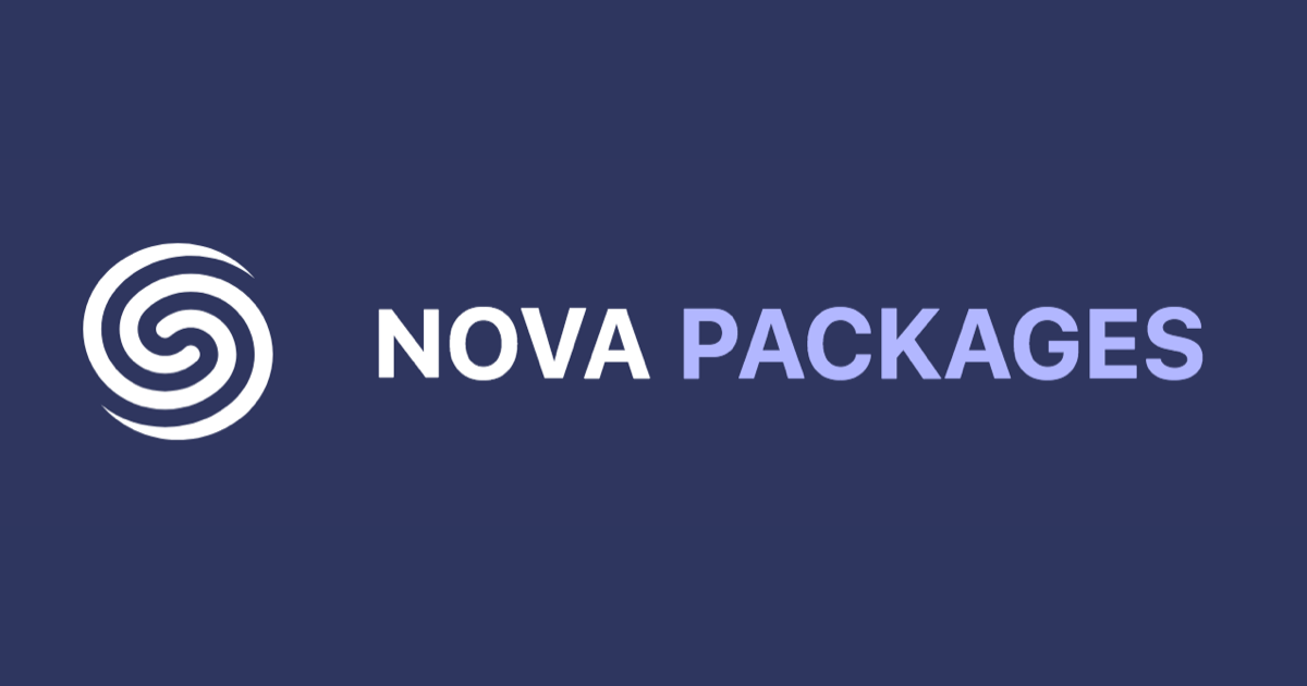 Discover new packages for Laravel Nova - Nova Packages
